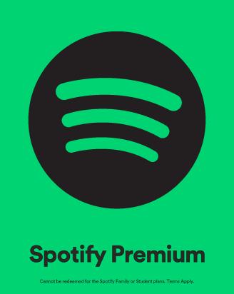 tarjeta de regalo de Spotify
