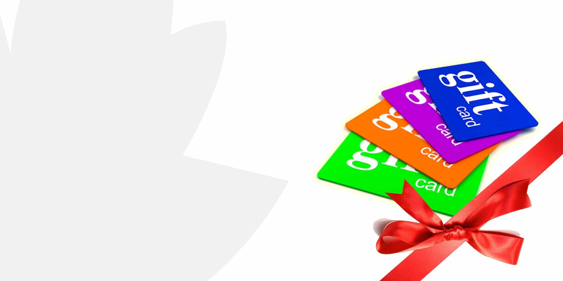 banner de página de inicio de tarjetas de regalo extremas
